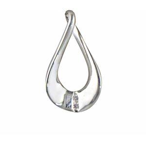Twisted Teardrop Silver Pendant