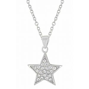 Star Cubic Zirconia Silver Pendant