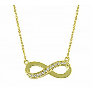 Gold Plated Infinity Silver Pendant