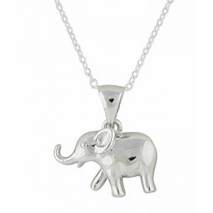 Small Elephant Silver Pendant