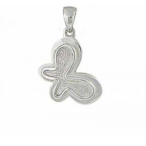 Textured Design Butterfly Silver Pendant