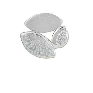 Trio Leaf Contemporary Silver Pendant