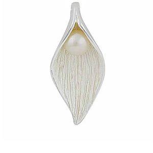 Matt Finish Silver Freshwater Pearl Pendant