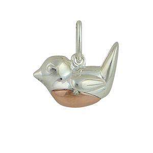 Rose Gold Plated Robin Bird Pendant