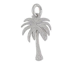 Palm Tree Silver Pendant