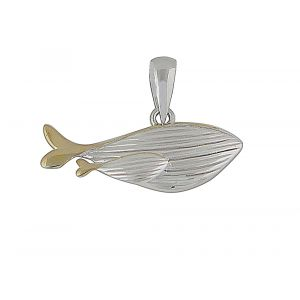 Gold Plated Silver Whale Pendant