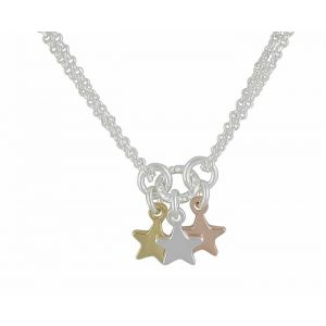 Trio of  Star Silver Necklace