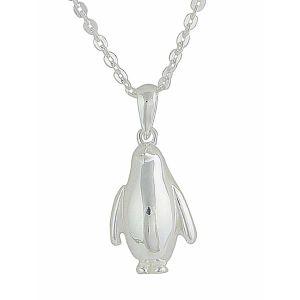 Small Penguin Silver Pendant