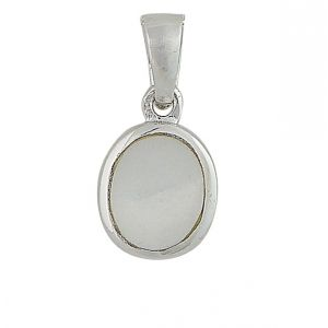 Mother of Pearl Small Silver Pendant