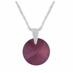 Lilac Shadow Swarovski Crystal Pendant Necklace