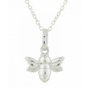 Baby Bee Silver Pendant Necklace