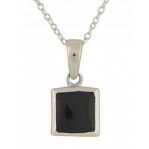 Square Black Onyx Necklace