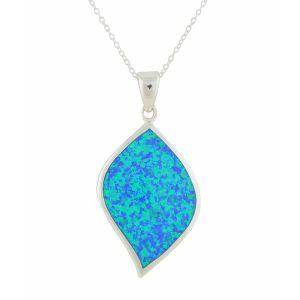Blue Opal Vision Silver Pendant