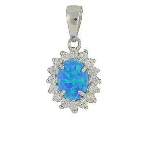 Sparkle Surround Blue Opal necklace