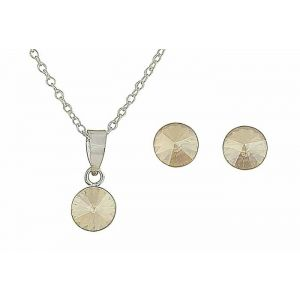 Golden Shadow Swarovski Earring and Necklace Set