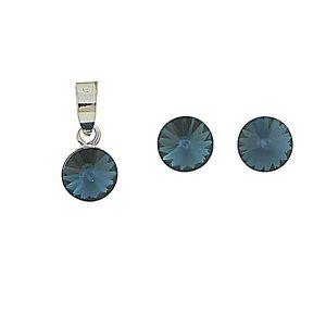 Montana Blue Swarovski Earring and Necklace Set