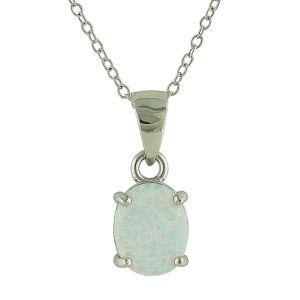 White Opal Innocence Silver Pendant