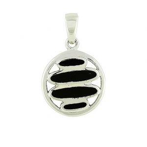 Silver Black Onyx Reveal Pendant