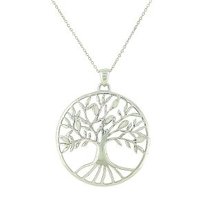 White Opal Large Tree of Life Pendant