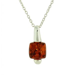 Faceted Amber Suspension Necklace