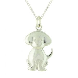 Dog Lover Silver Pendant Necklace
