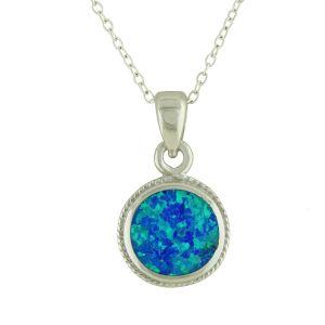 Blue Opal Bedazzle Pendant