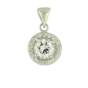 Classic Look Cubic Zirconia Silver Pendant