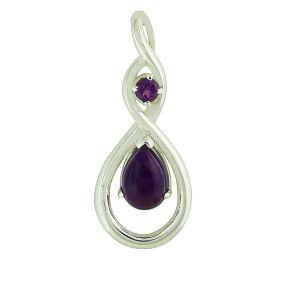 Infinity Amethyst Silver Pendant