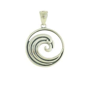 Silver Wave Pendant