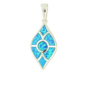 Art Deco Blue Opal Necklace