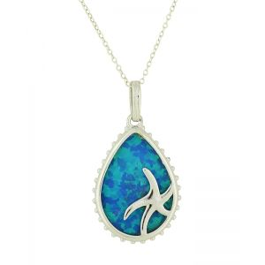 Seascape Blue Opal Necklace