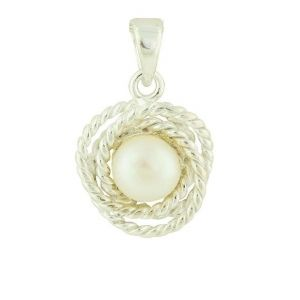 Freshwater Pearl Rope Silver Pendant