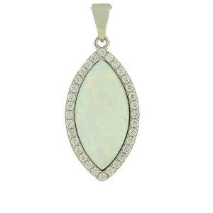 White Opal Protected Silver Necklace