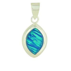 Blue Opal Romance Pendant
