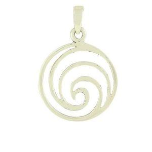 Oceanic Wave Silver Pendant
