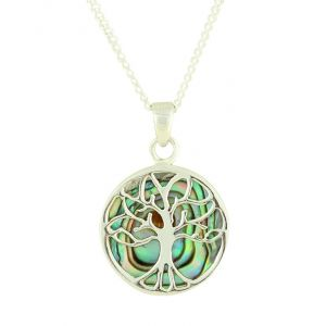 Abalone Tree Of Life Silver Pendant