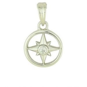 Compass Silver Pendant