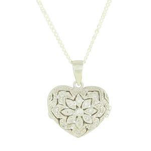 Silver Heart Vintage Style Locket