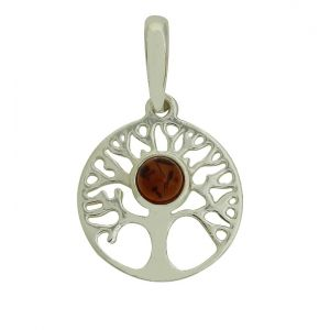 Fulfilment Tree Of Life Amber Pendant