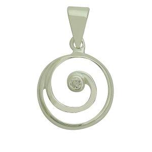 Doodle Singular Silver Pendant