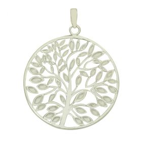 Tree of Life Large Silver Pendant