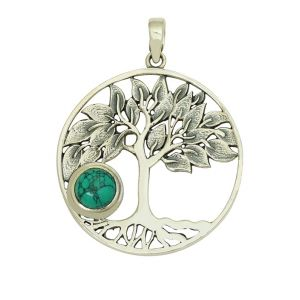Tree of Life Turquoise Pendant