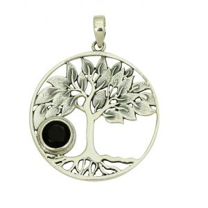 Tree of Life Black Onyx Pendant