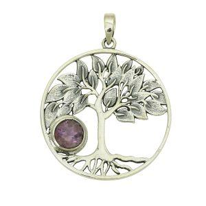 Tree of Life Amethyst Pendant