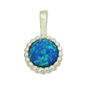 Blue Opal Expressive Pendant