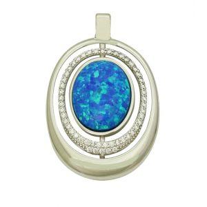 Blue Opal Ornamental Pendant