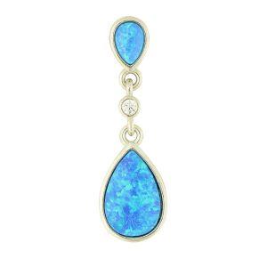 Blue Opal Pendulum Pendant
