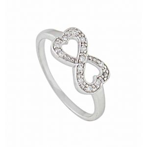 Infinity and Heart Silver Ring