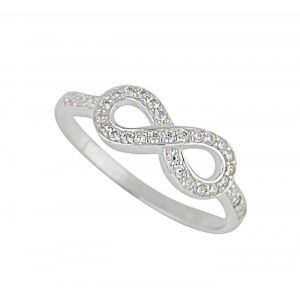 Infinity Symbol Sterling Silver Ring