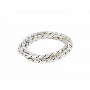 Rope Style Interwined Sterling Silver Ring